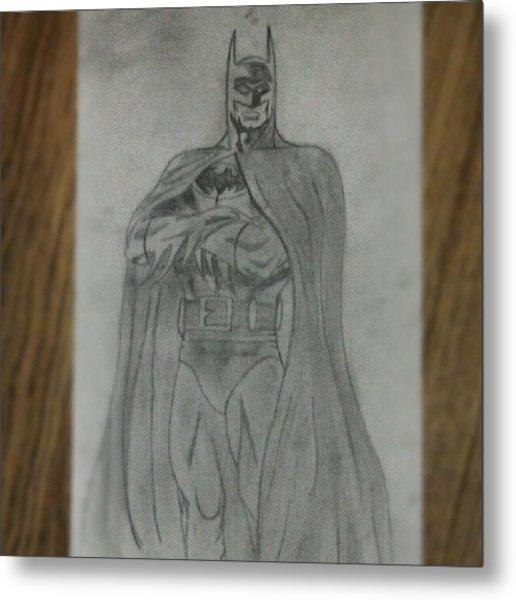 #bat #batman #thedarkknight #art Metal Print