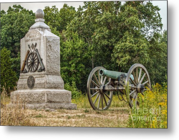 Battery D 1st Ny Light Artillery At Gettysburg Metal Print