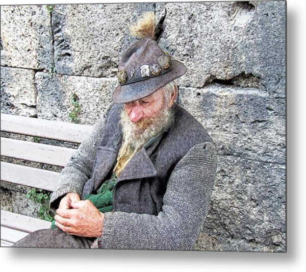 Bavarian Gentleman Partenkirchen Germany Metal Print