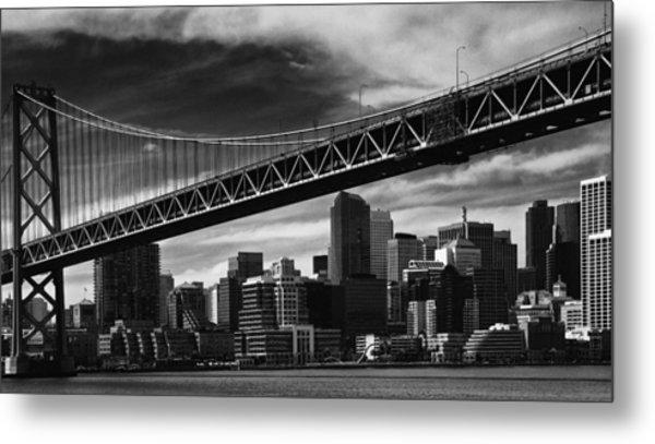 Bay Bridge And Dowtown San Francisco Metal Print by Laszlo Rekasi