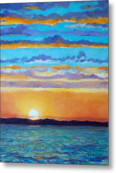 Metal Print featuring the painting Bay Sunset by Robert Henne
