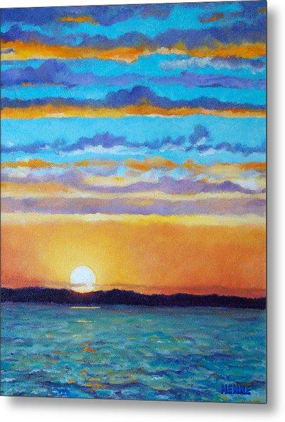 Bay Sunset Metal Print by Robert Henne
