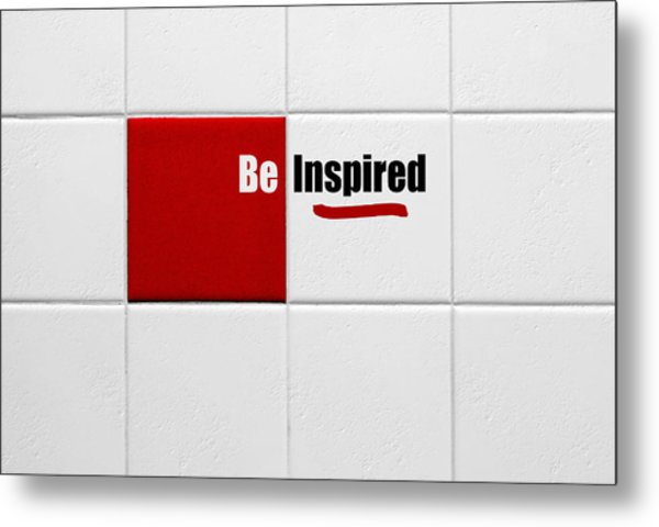 Be Inspired Modern Style Red Tile Metal Print