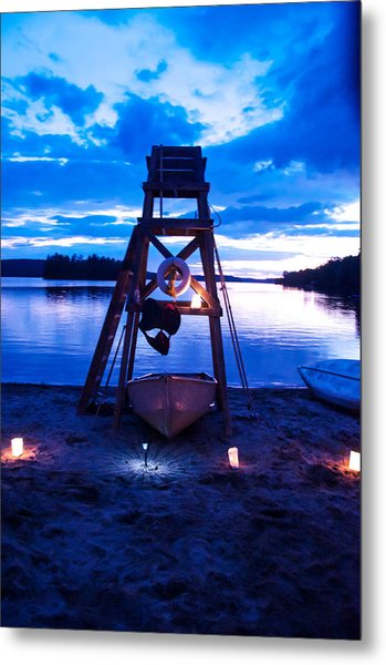 Beach Nights At Camp Kahquah Metal Print