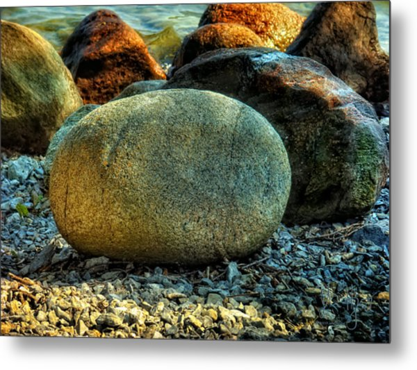 Beach Rocks Metal Print