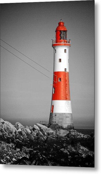 Beachy Head Lighthouse Metal Print by Mark Leader
