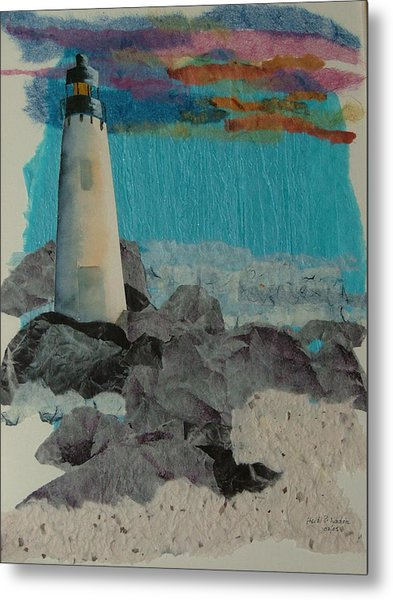 Beacon On The Rocks Metal Print