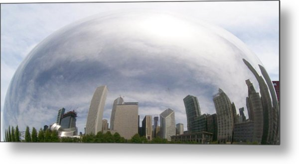Bean Skyline Metal Print