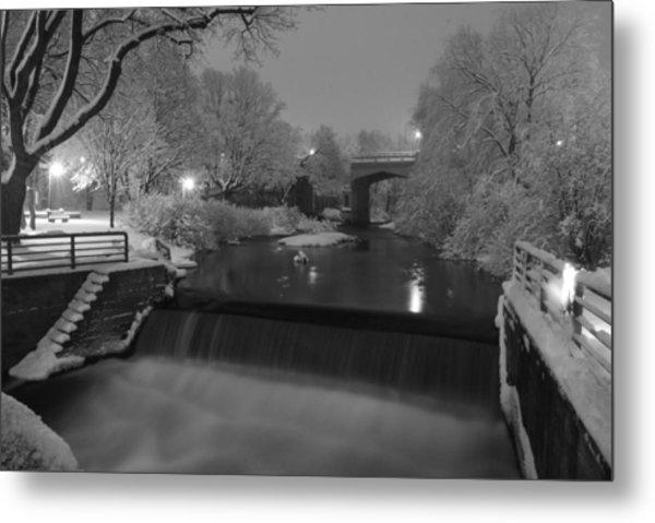 Bear River After Fresh Snow Metal Print
