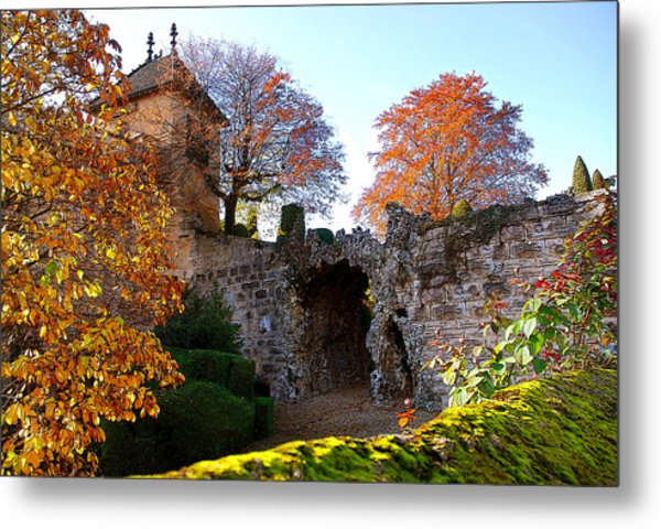Beaune Gate Metal Print by Michael Dantuono
