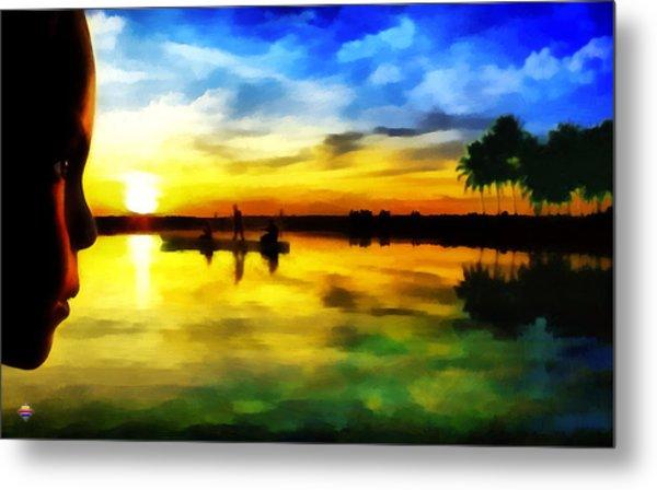 Beautiful Sunset Metal Print by Vidka Art