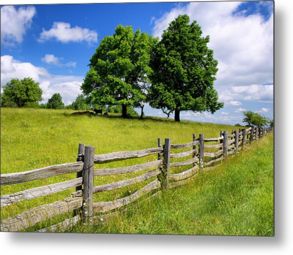 Beautiful Virginia Pasture Metal Print