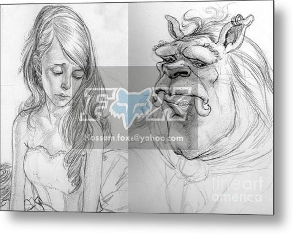 Beauty And The Beast Metal Print by Hossam Fox