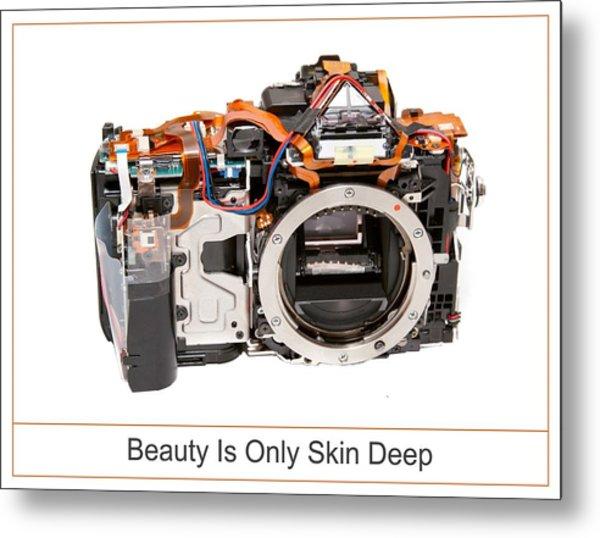 Beauty Is Only Skin Deep Metal Print