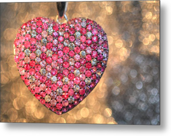 Bedazzle My Heart Metal Print