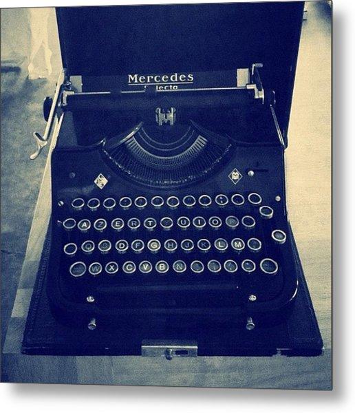 Before Computer... #typewriter Metal Print
