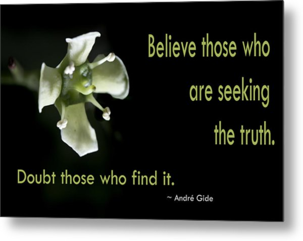 Believe Those Metal Print by Susan Shurkey-Coates