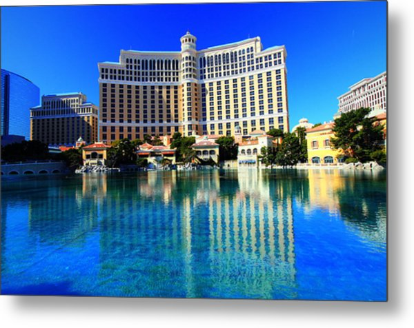 Bellagio Waters Metal Print