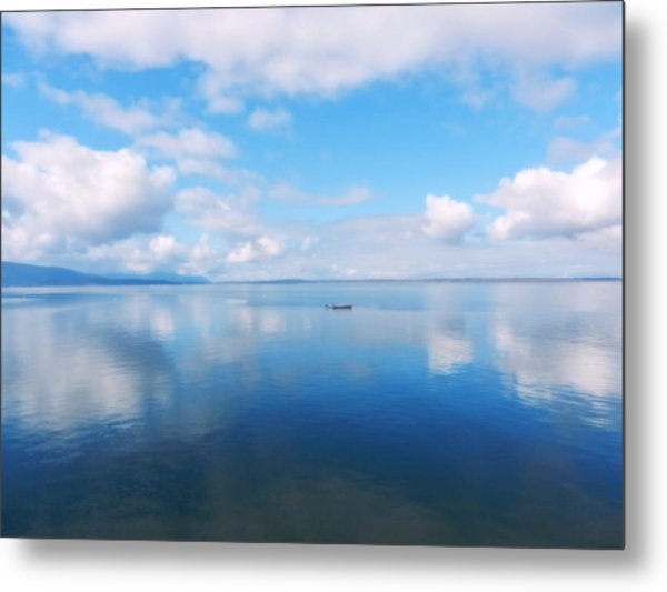 Bellingham Bay In Blue Metal Print