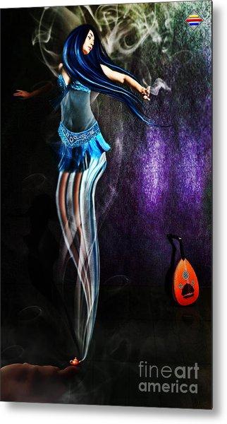 Belly Dance Genie Metal Print by Vidka Art