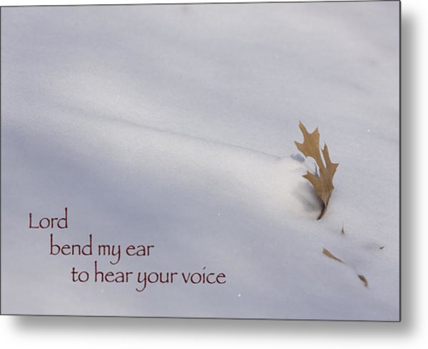 Bend My Ear Metal Print