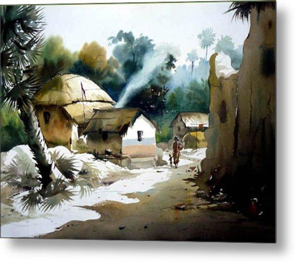 Bengal Village At Noontime Metal Print