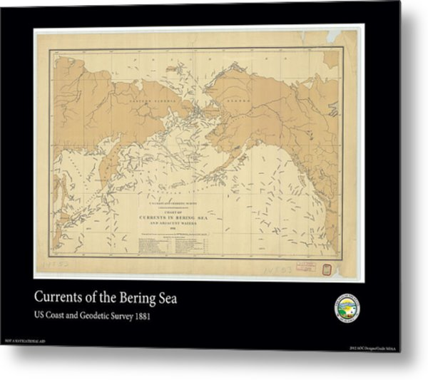 Bering Sea Currents 1881 Metal Print by Adelaide Images