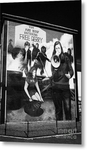 Bernadette Battle Of The Bogside Mural Derry Metal Print