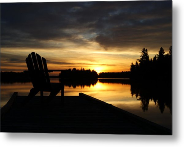 Berry Lake Sunrise Metal Print