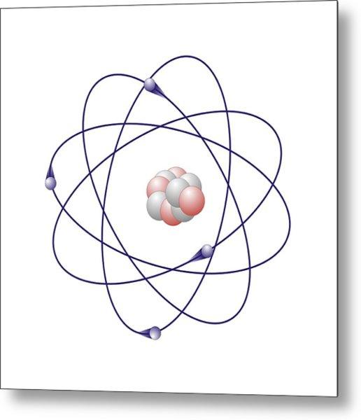 beryllium atomic model photograph by friedrich saurer Atomic Fire Balls beryllium atomic model metal print by friedrich saurer
