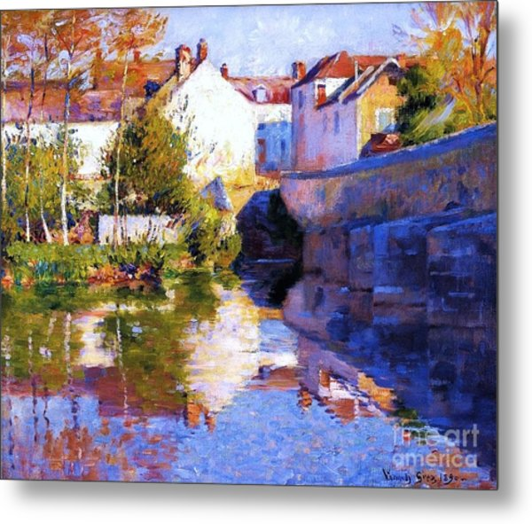 Beside The River - Grez Metal Print by Pg Reproductions