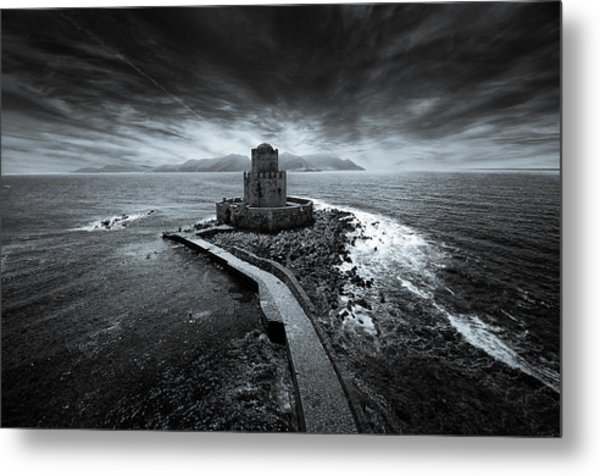 Beyond The Sea There Is A Small Prison Metal Print