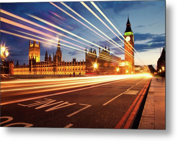 Big Ben And The Houses Of Parliament. Metal Print