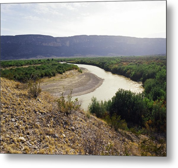Big Bend Park Overlooking The Rio Grand River Metal Print