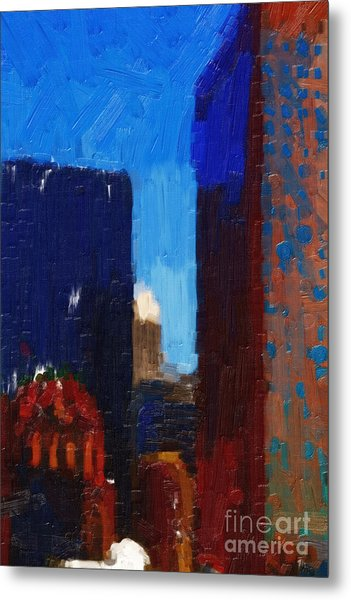 Big City Metal Print by Wingsdomain Art and Photography