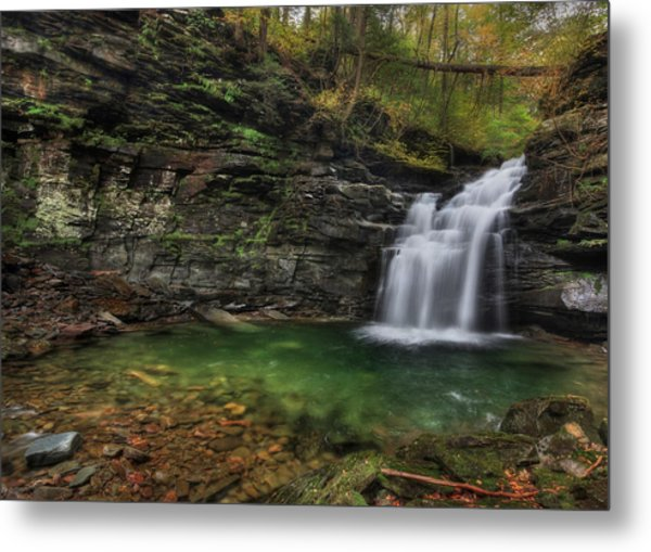 Big Falls - Heberly Run Metal Print