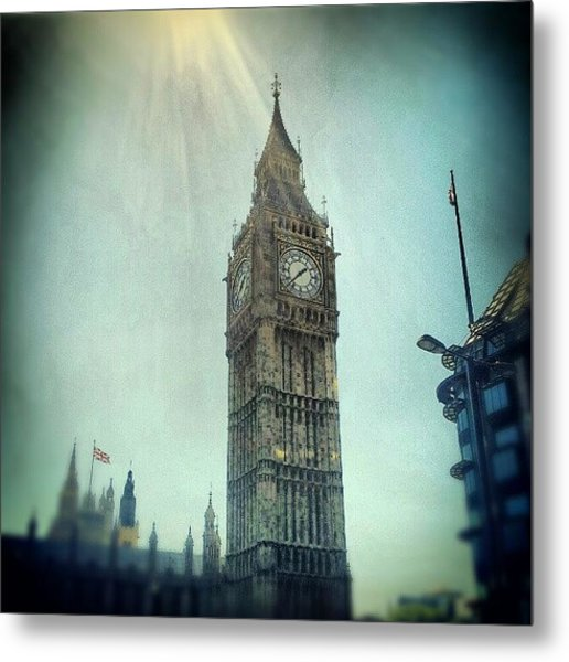 #bigben #uk #england #london #londoneye Metal Print