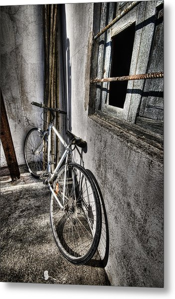 Bike Station Metal Print by Gabriel Calahorra