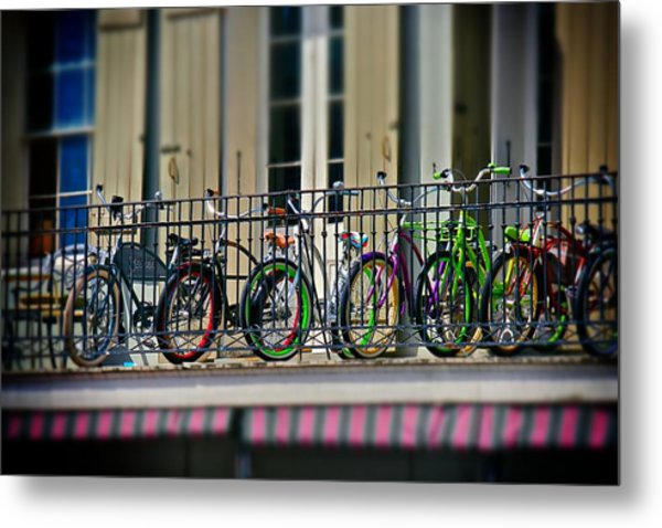 Bikes On Top Metal Print