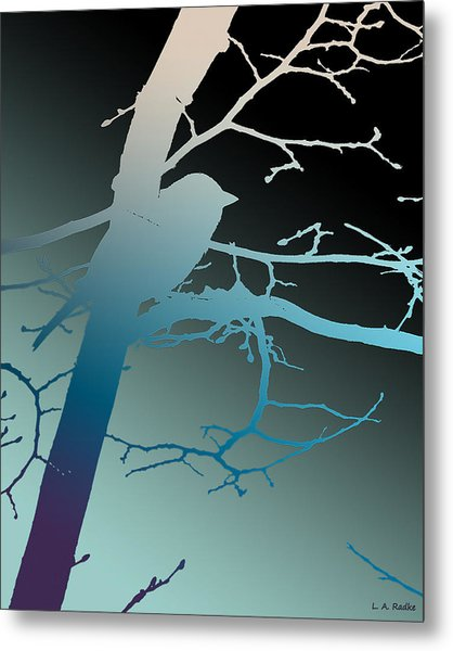 Bird At Twilight Metal Print