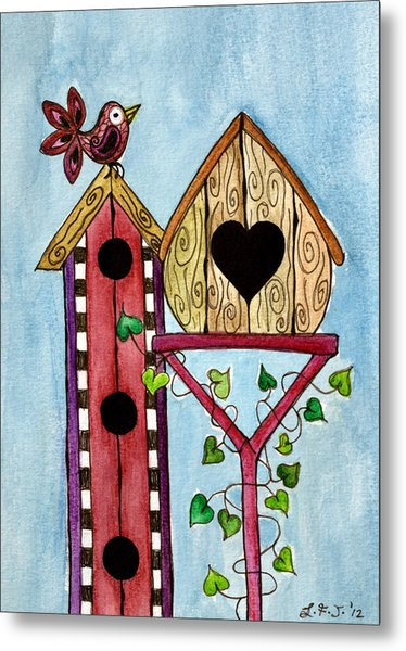 Bird House Metal Print by Lisa Frances Judd