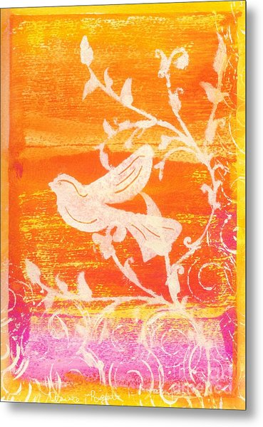 Bird In The Meadow Metal Print