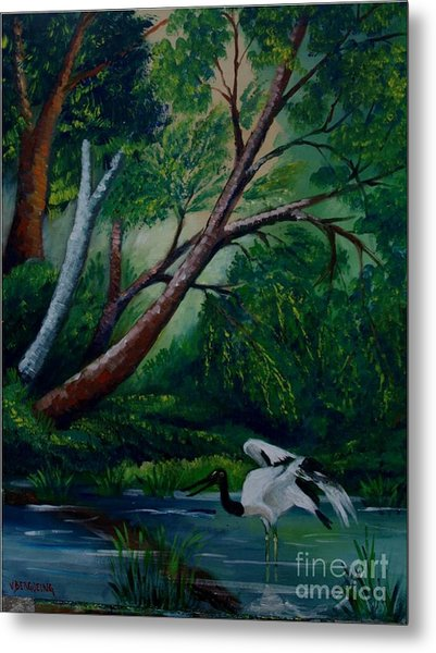 Bird In The Swamp Metal Print