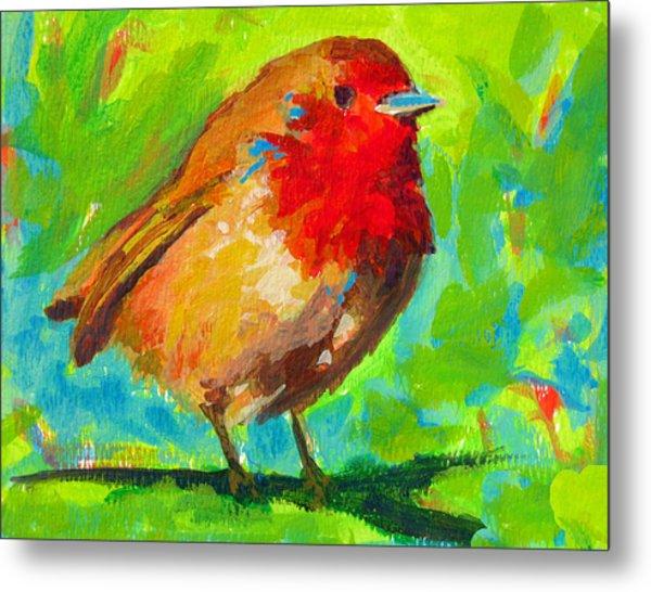 Birdie Bird - Robin Metal Print