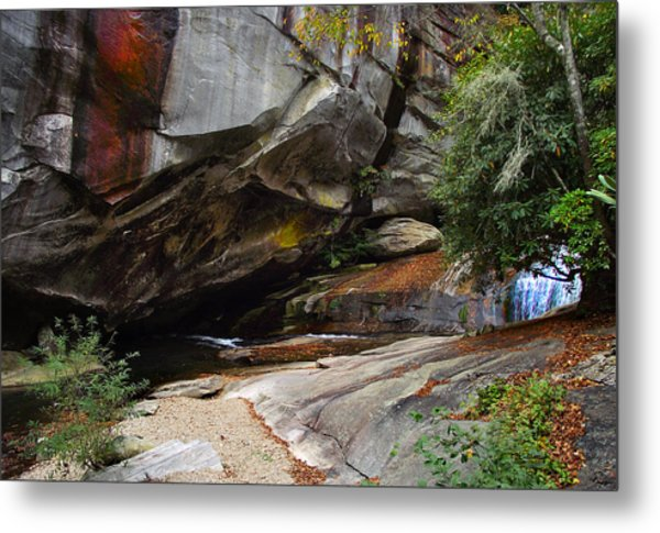 Birdrock Waterfall Metal Print