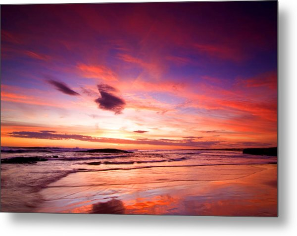 Birubi Point Sunset Metal Print