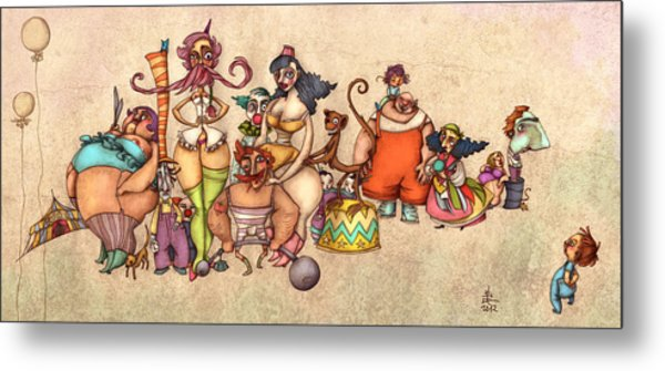 Bizarre Circus People Metal Print