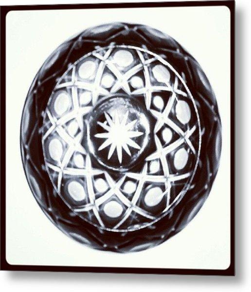 Black And White Glass Bowl. #glass Metal Print