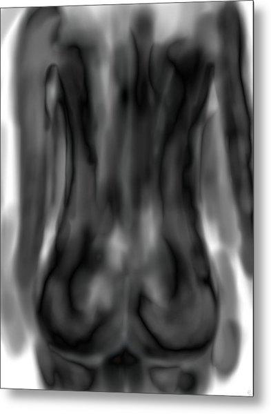 Black Back Metal Print by Mathieu Lalonde