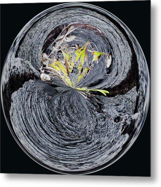 Black Lava Sands Metal Print